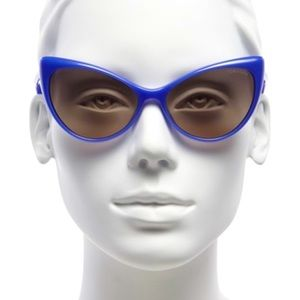 TOM FORD Blue Cat Eye Injected Sunglasses